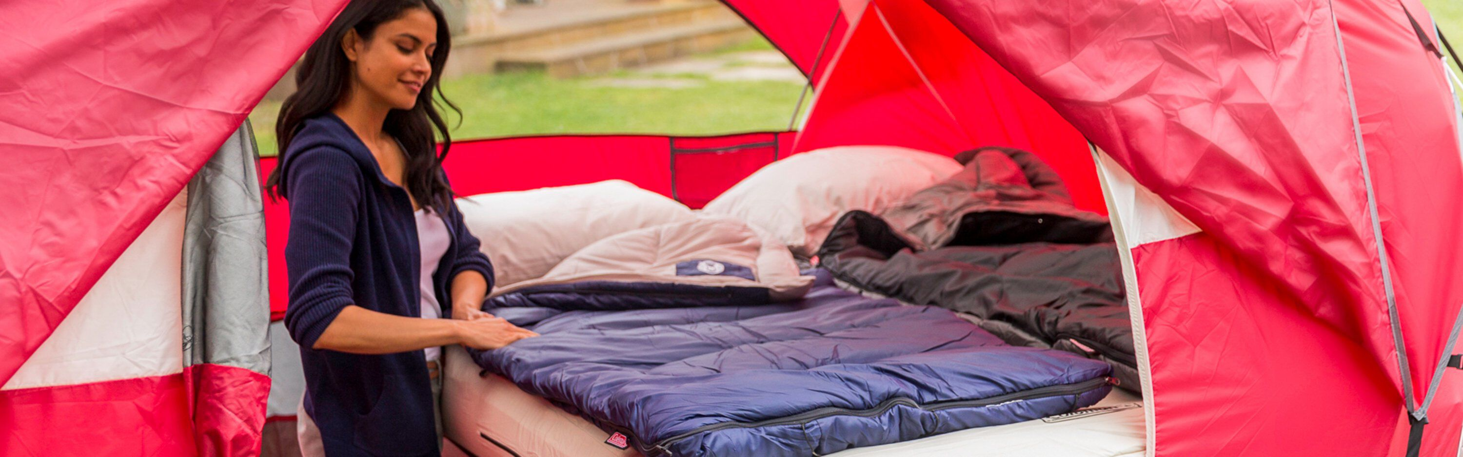 sleeping bag & other assorted camp products