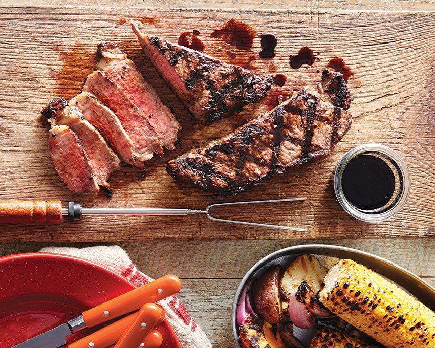 Garlic-Marinated Strip Steak