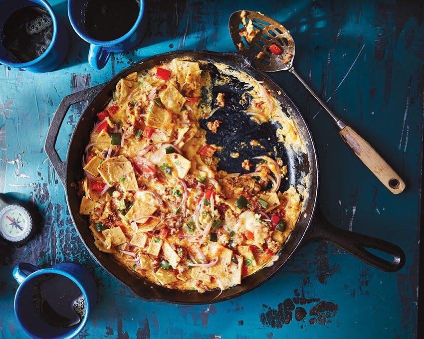 Southwest Chilaquiles Skillet Breakfast